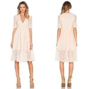 Free People | Laurel Lace Midi Dress in Almond 6